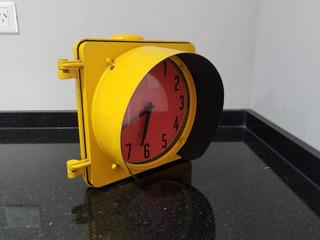 Semáforo Decorativo Reloj Funciona
