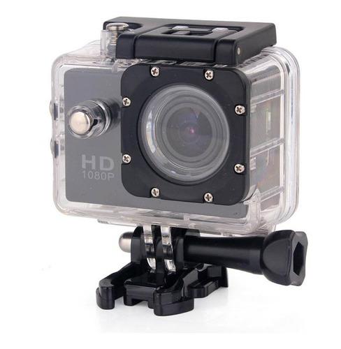 Câmera P Ação Sports Full Hd 1080p 30 Metros Prova A'agua