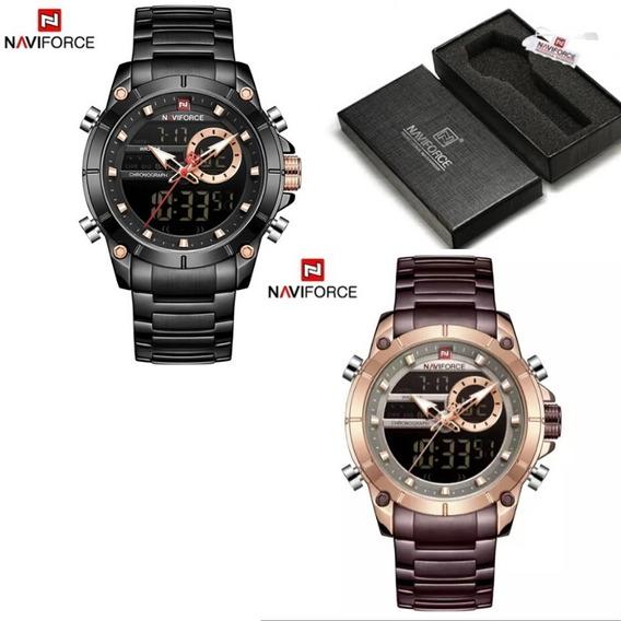 Relógio De Luxo Naviforce Analógico Resistente A Choques