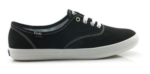 Tênis Keds Preto Lona Champion Woman Canvas - Kd100143