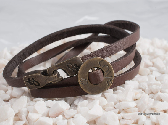 Pulsera De Piel, Leather Bracelet, Pulseras Hombre, Pulseras
