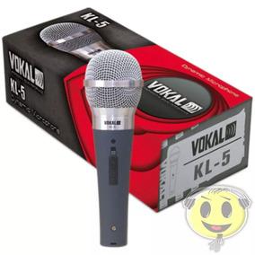 Microfone Vokal Dinâmico Kl5 Profissional + Cabo - Kadu Som