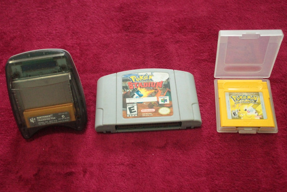 Pokemon Stadium + Transfer Pak + Pokemon Yellow Nintendo 64