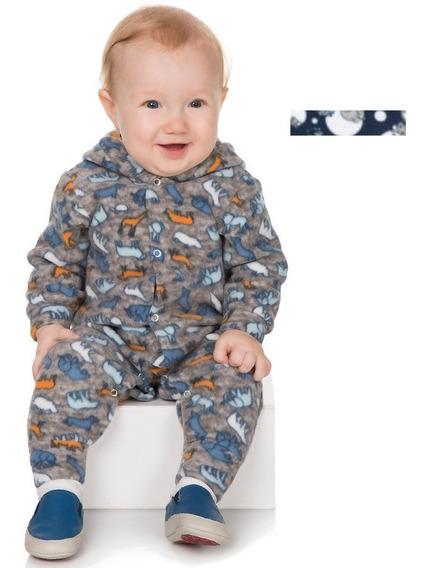 Roupa Bebê Menino Macaquinho De Microsoft Longo Com Botão