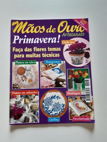 Revista Mãos De Ouro Artesanato Primavera Pintura D694