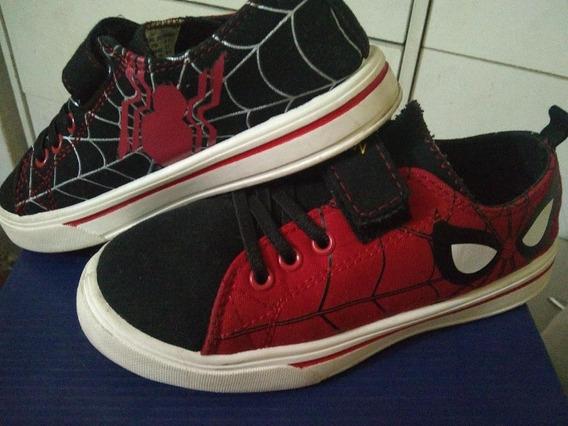 Zapatos De Spiderman Talla 30 Marca Marvel