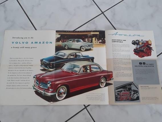 Folder Folheto Catálogo Brochura Volvo Amazon 142 Gt Raro