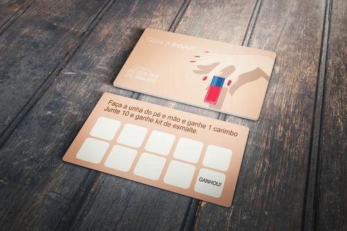 1000x Cartão De Visita Fidelidade Personalizado 250gr Couchê