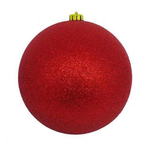 Bola De Natal Plástico 8 Unidade - Vermelho Hh