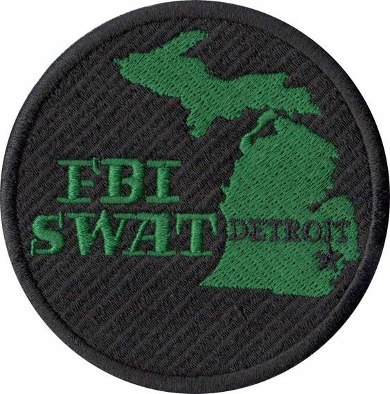 Patch Bordado - Policia Federal Fbi Swat Detroit Pl60170