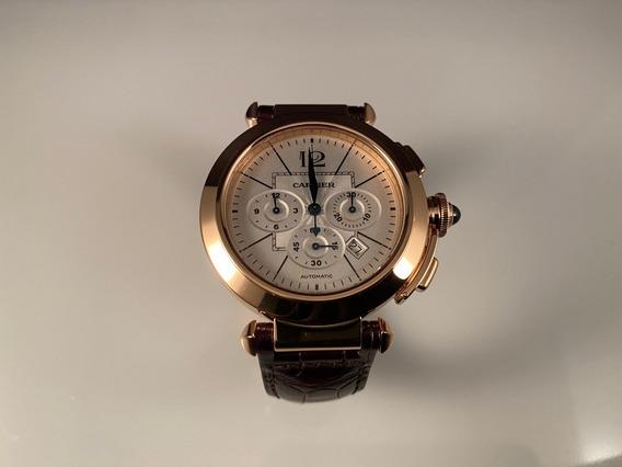 Cartier Pasha 42 Mm Chronograph,automático En Oro Rosa 18 Kt