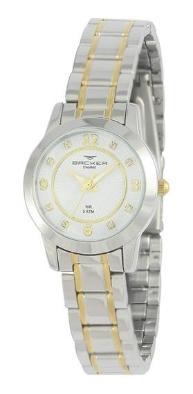 Relógio Feminino Backer Analógico 10217134f Prata/dourado