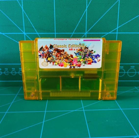 Cartucho Super Nintendo Snes 68 Jogos Em 1 Donkey Kong Zelda