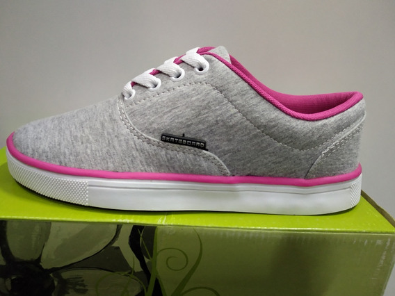 Tenis Ferma Skate A7520 Cinza Mescla