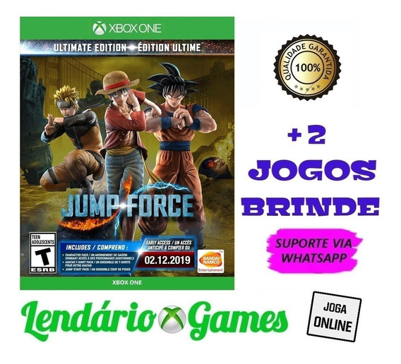 Jump Force Ultimate Edition X One M. Digital + 2 Brindes