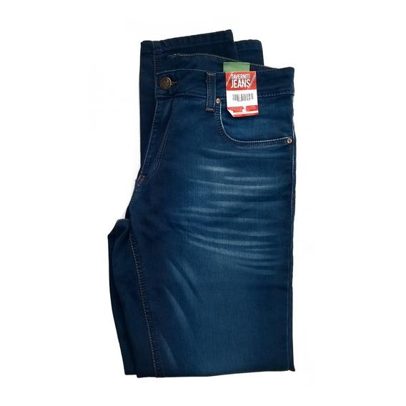 Jeans Azul Localizado Slim Taverniti Original Hombre Moderno