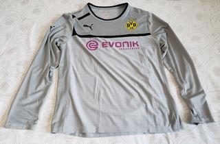 Camisa Borussia Dortmund Treino Manga Longa Cinza