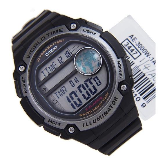 Relógio Casio Hora Mundial Ae-3000w-1avdf