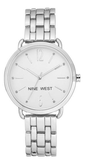 Reloj Nine West Original, Dama Plata