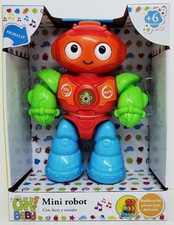 Ok Baby Mini Robot Didactico Con Luz Y Sonido Okbb0164