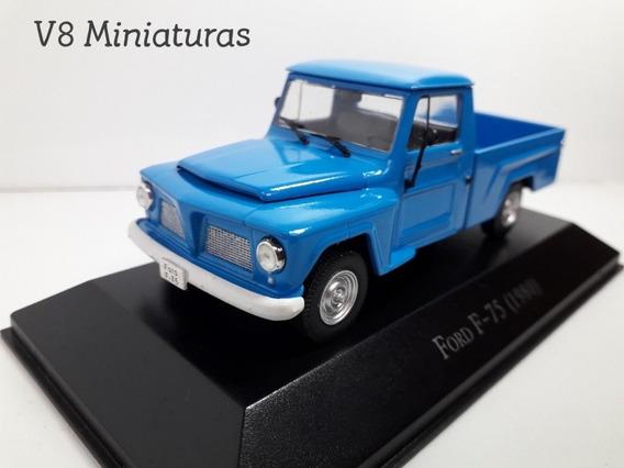Miniatura Ford F-75 1980 Azul Customizada