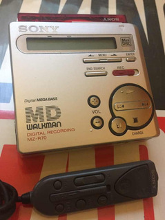 Minidisc Sony Mz-r70 Md Walkman.