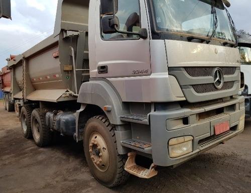 Mercedes-bens Axor 3344 K 6x4 Ano 2014 Caçamba Traçado
