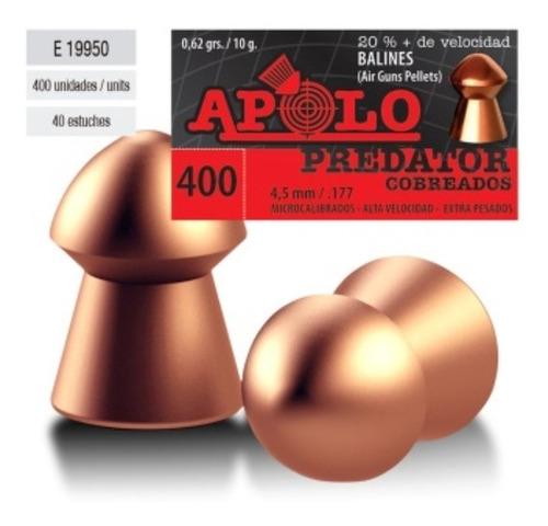 Chumbo Apolo Cobreado Predator 4.5mm