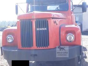 Scania L-111 - 76/76 - Cavalo Toco, Cabine Leito, Laranja