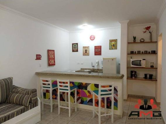 Flat Com 1 Dormitório À Venda, 46 M² Por R$ 330.000 - Riviera De São Lourenço - Bertioga/sp - Fl0052