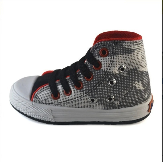 Botas Botitas Camuflado Gris Tachas Small Shoes