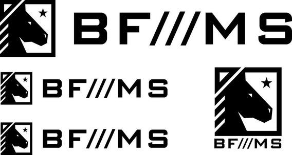 Adesivo Bf///ms Kit Com 4 Unid - Várias Cores - Frete Grátis