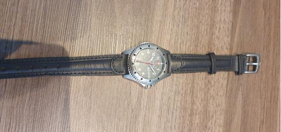 Relógio Suíço Wenger Pulseira Couro Mostrado Cinza Feminino