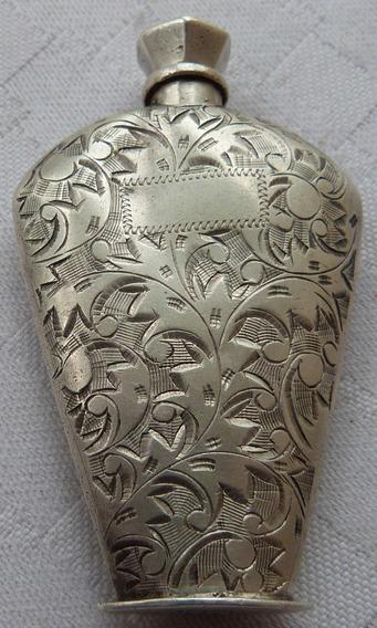 Monijor62-antiguo Perfumero Cartera En Plata Cincelada 950