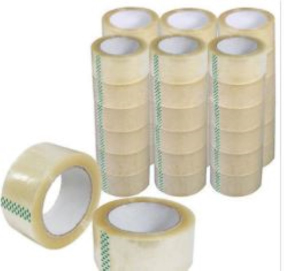 Kit Fitas Larga Transparente Adesivas 48mmx100m 18 Unidades.