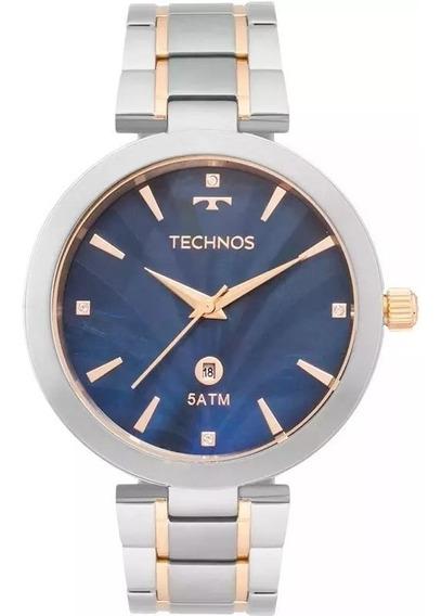 Relógio Feminino Technos Gl10if/5a Madrepérola Bicolor