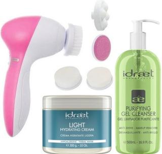 Kit Cepillo Limpieza Y Masajes Faciales + 2 Productos Idraet