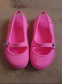 Sandalias Crocs De Niña Color Rosado