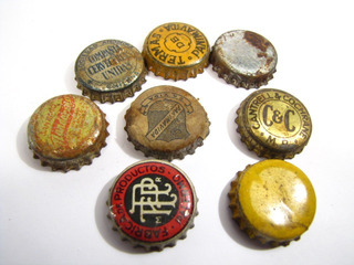 Tapas Corona De Cerveza Y Agua Mineral Antiguas (8)
