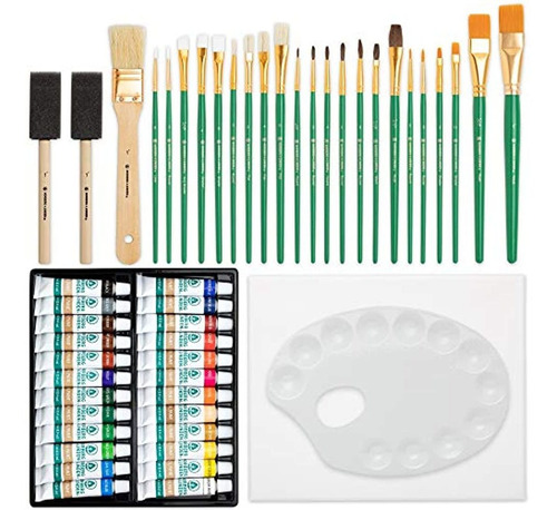 Imagen 1 de 7 de Pinceles Y Brochas Para Pintura Suministros Pintura Al Óleo