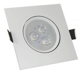 Spot Led 3w Quadrado - Luz Branca