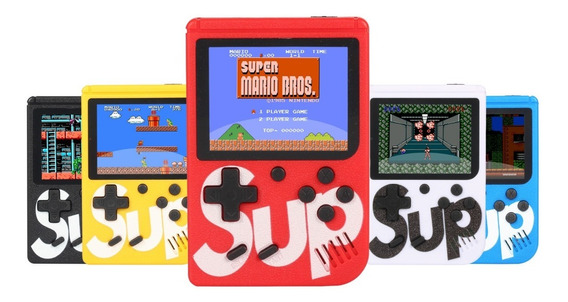 Mini Super Vídeo Game Portátil 400 Jogos Cabo Av Super Mario