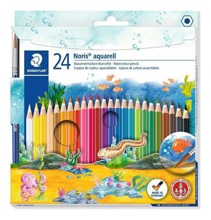 Colores Acuarelables Staedtler Noris Club Aquarell, Caja X24