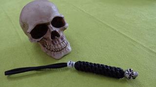 Lanyards Emerson Skull Bead Pewter Original Made In Usa !
