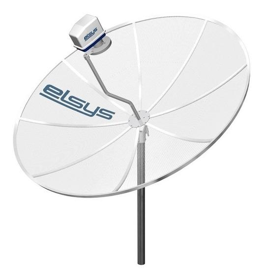 Antena Parabolica 1,90 Mts Elsys Para Receptor Digital Hd