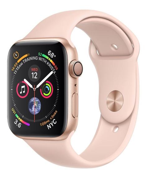 Apple Watch S4 40mm Gps Dourada Pulseira Sport Areia Rosa