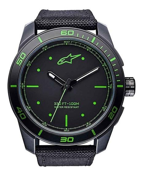 Relógio Alpinestars Tech Preto/verde Nylon