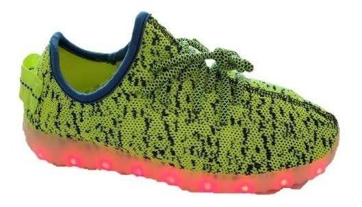 Tenis Led Zapatos Unisex Dama Colores Regalo Cargador Usb