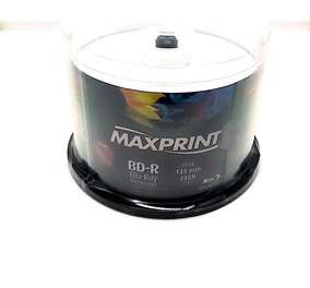 50 Bluray Maxiprint Printable 25gb. 6x