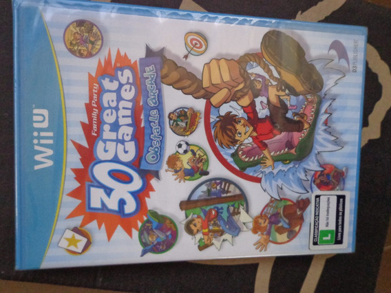 30 Great Games Family Party Obstacle Arcade Wii U Lacr $50